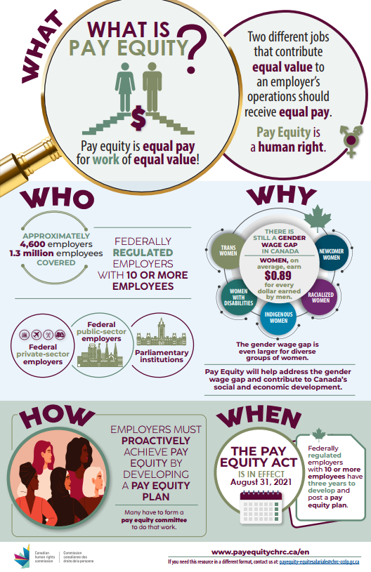 What is Pay Equity Infographic - English version